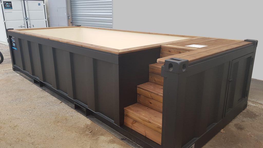 votre piscine dans un container maritime recycl mer et oc an le media des mers. Black Bedroom Furniture Sets. Home Design Ideas